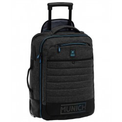 TROLLEY MUNICH CABINA CONVERTIBLE EN MOCHILA BLACK
